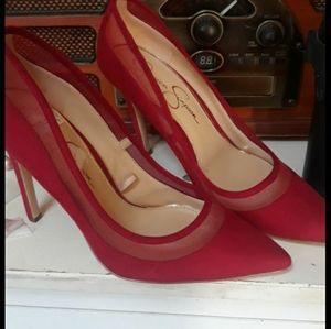 Jessica Simpson Red Stilettos